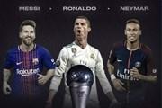 Ronaldo, Messi và Neymar tranh giải Cầu thủ xuất sắc nhất FIFA