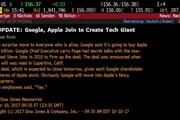 Dow Jones gây sốc khi đăng tin Google mua Apple chỉ với 9 tỷ USD