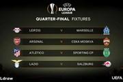 Tứ kết Europa League: Arsenal, Atletico rộng cửa vào bán kết
