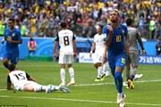 Brazil vs Costa Rica 2-0: Selecao giành chiến thắng nghẹt thở