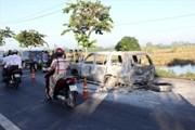Vụ đốt xe giữa đường ở Hậu Giang: Nghi can là con gái của nạn nhân
