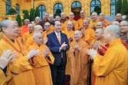 Chủ tịch nước Trần Đại Quang gặp mặt đoàn Giáo hội Phật giáo Việt Nam