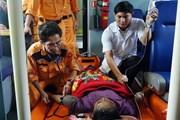 Cứu thuyền viên bị nôn ra máu khi hành nghề trên vùng biển Hoàng Sa