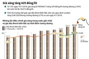 [Infographics] Giá xăng E5 RON92 tăng thêm 429 đồng mỗi lít