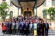 Phó Thủ tướng Phạm Bình Minh gặp mặt báo chí nhân dịp Năm mới