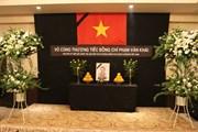 Tổ chức lễ viếng nguyên Thủ tướng Phan Văn Khải tại Nhật Bản