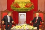 Tổng bí thư Nguyễn Phú Trọng tiếp Ngoại trưởng Nga Sergey Lavrov