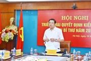 Triển khai việc kiểm tra Ban cán sự đảng Bộ Thông tin và Truyền thông