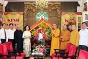 Trưởng Ban Dân vận thăm Giáo hội Phật giáo nhân lễ Phật Đản