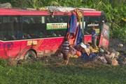 Bị mất phanh, xe khách chở 42 người gặp nạn tại Phú Yên