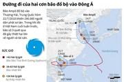 [Infographics] Đường đi của hai cơn bão đổ bộ vào khu vực Đông Á