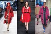 Muôn vàn sắc thái đỏ khi trời se lạnh của các thương hiệu hàng đầu