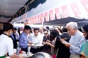 Gian hàng Việt Nam hút khách tại hội chợ ẩm thực quốc tế Ukraine