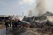 Cháy nhà máy may của doanh nghiệp Hàn Quốc tại Vĩnh Phúc