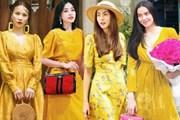 Đón đầu xu hướng, mỹ nhân Việt đua nhau sắm loạt đầm vàng rực rỡ