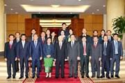 Tổng Bí thư tiếp Đoàn Đại biểu Ban Đối ngoại TW Đảng của Lào