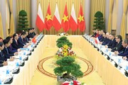 Chủ tịch nước Trần Đại Quang hội đàm với Tổng thống Cộng hòa Ba Lan