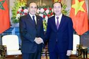 Chủ tịch nước Trần Đại Quang tiếp Chủ tịch Hạ viện Vương quốc Maroc