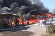 Khống chế vụ cháy tại kho vải phế liệu rộng 1.000 m2 ở Tiền Giang