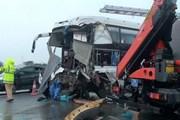Vụ va chạm xe trên cao tốc Pháp Vân: Một chiến sỹ cảnh sát tử vong
