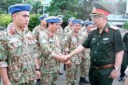 Bảy sỹ quan Việt Nam đi làm nhiệm vụ gìn giữ hòa bình Liên hợp quốc