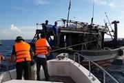 Khẩn trương ứng cứu thuyền viên tàu cá bị tai biến trên biển