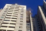 Đang cháy chung cư CT3 Bắc Hà Hà Đông, lửa vẫn chưa được dập