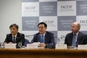 PTT Vương Đình Huệ phát biểu ở diễn đàn đầu tư Việt Nam-Brazil
