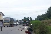 Va chạm giữa xe đầu kéo và xe máy làm 2 vợ chồng tử vong