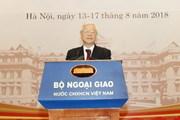 Tổng Bí thư: Tiếp tục đổi mới tư duy trong công tác đối ngoại