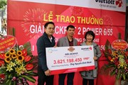Giải Jackpot 2 trị giá hơn 3,6 tỷ đồng lần đầu được trao tại miền Bắc