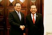 Phó Thủ tướng Trương Hòa Bình hội đàm với Phó Thủ tướng Lào