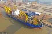 Chạy thử tàu nạo vét lớn nhất châu Á do Trung Quốc sản xuất