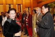 Chủ tịch Quốc hội tiếp Đoàn dự Hội nghị Hội đồng Hòa bình thế giới