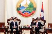 Lãnh đạo Đảng, Nhà nước Lào tiếp Đoàn đại biểu thành phố Hà Nội