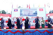 Khởi công trường học ở Lào - quà tặng của Tổng Bí thư Nguyễn Phú Trọng
