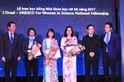 Năm nhà khoa học nữ nhận giải thưởng L'oreal-UNESCO 2017