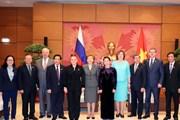 Chủ tịch Quốc hội Nguyễn Thị Kim Ngân tiếp các nhà lãnh đạo Nga