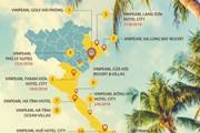 [Infographics] 28 dự án và khách sạn 5 sao của Vinpearl