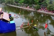 [Photo] Hàng vạn du khách tham dự lễ hội văn hóa dân gian Phố Hiến