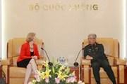 Thượng tướng Nguyễn Chí Vịnh tiếp Đại sứ New Zealand
