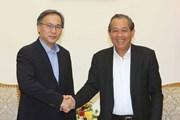 Phó Thủ tướng tiếp Thứ trưởng Thường trực Bộ Nội vụ Singapore