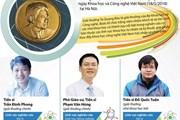 [Infographics] Ba nhà khoa học nhận Giải thưởng Tạ Quang Bửu 2018