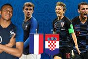 """Các """"điểm nóng"""" quyết định trận chung kết Pháp-Croatia"""