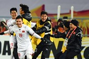 [Video] Các cầu thủ U23 Việt Nam hét khản cổ trong phòng thay đồ