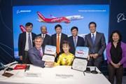 Vietjet ký mua 100 tàu bay Boeing B737 MAX trị giá 12,7 tỷ USD