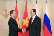 Chủ tịch nước Trần Đại Quang hội kiến Thủ tướng Nga Dmitry Medvedev