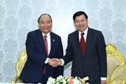 Thủ tướng Nguyễn Xuân Phúc thăm Hãng viễn thông Star Telecom tại Lào