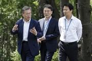Tổng thống Hàn Quốc Moon Jea-in đến làng đình chiến Panmunjom