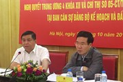 Đoàn kiểm tra của Ban Bí thư làm việc với Bộ kế hoạch và Đầu tư